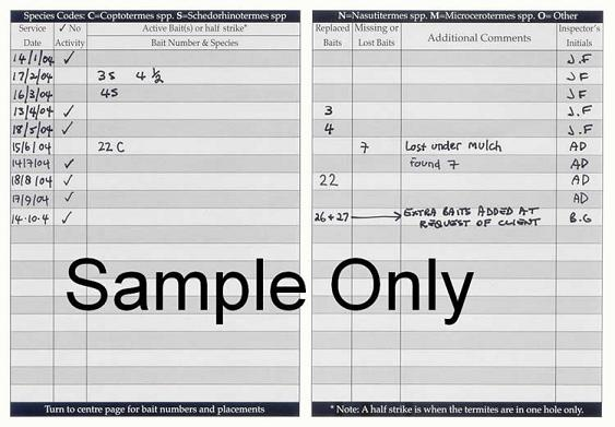 Service Book Inner Sample